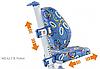 Кресло Mealux Nobel SB (арт.Y-517 SB) серебристый металл / обивка синяя с кольцами, фото 5
