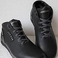 Jordan RP зимние мужские кроссовки кожа черные с серым, фото 1