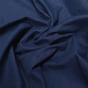 Ткань лен стрейч синий джинс