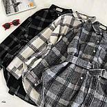Жіноча теплі сорочки з поясом в клітку (в кольорах), фото 6