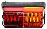 Фонарь задний МТЗ, ЮМЗ левый, пластм. корпус, 160x87x98 (Руслан-Комплект)