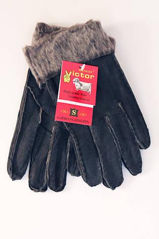 Женские перчатки  черные, фото 2