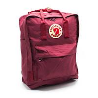 Рюкзак Fjallraven Kanken городской молодежный красный / портфель / сумка Премиум качество