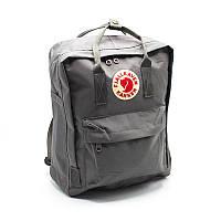Рюкзак Fjallraven Kanken городской молодежный серый / портфель / сумка Премиум качество