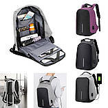 Рюкзак - Антивор Bobby Bag с USB Travel Bag 9009, фото 3