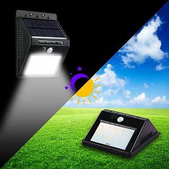 Светодиодный уличный светильник с датчиком движения на солнечной батарее Solar Powered LED WallLight, фото 2