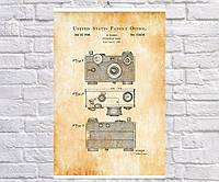 Постер BEGEMOT Патент-чертеж Фотоаппарат Аргус 40x61 см Желтый (1120178)