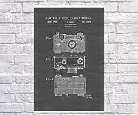 Постер BEGEMOT Патент-чертеж Фотоаппарат Аргус 40x61 см Черный (1120180)