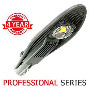 Консольний вуличний світильник LED 60W 6000-6500К з лінзою серія PROFESSIONAL