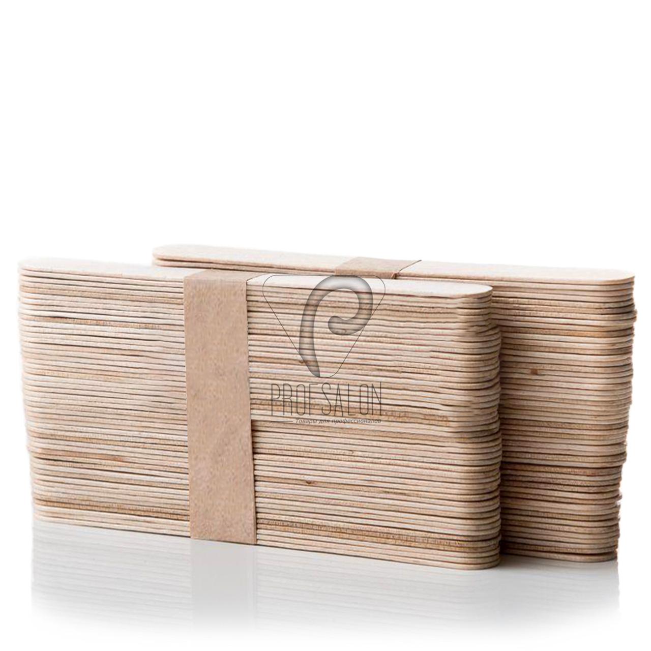 Одноразовые шпатели для депиляции, деревяные, 100шт
