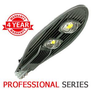 Консольний вуличний світильник LED 100W 6000-6500К з лінзою серія PROFESSIONAL