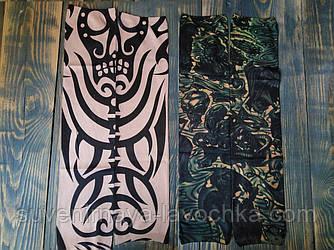 Тату рукава дизайн  Indian style shaman and Skull (для велопробега, защита от солнца, рок - стиль).