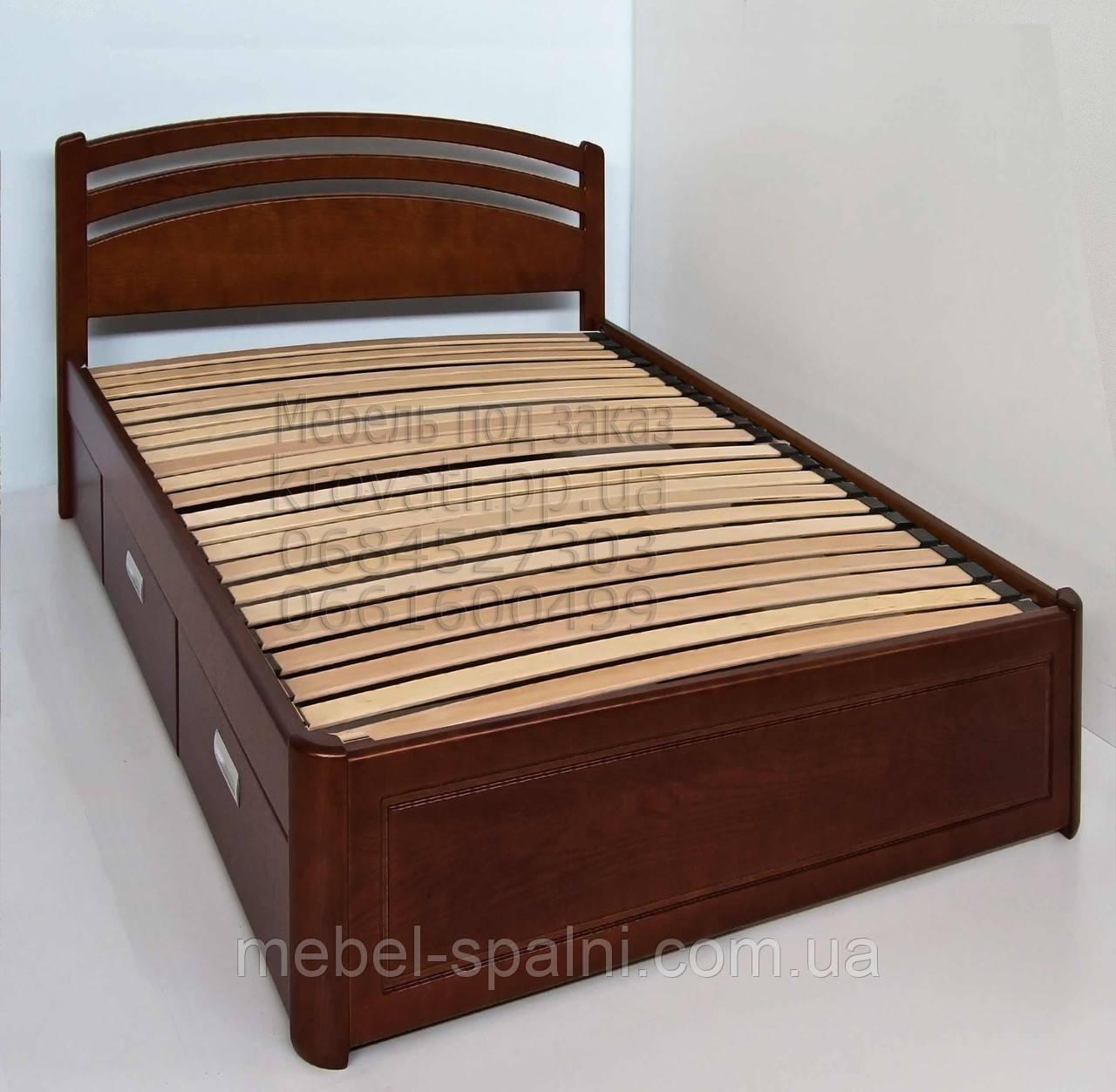купить харьков кровать деревянная односпальная с ящиками натали