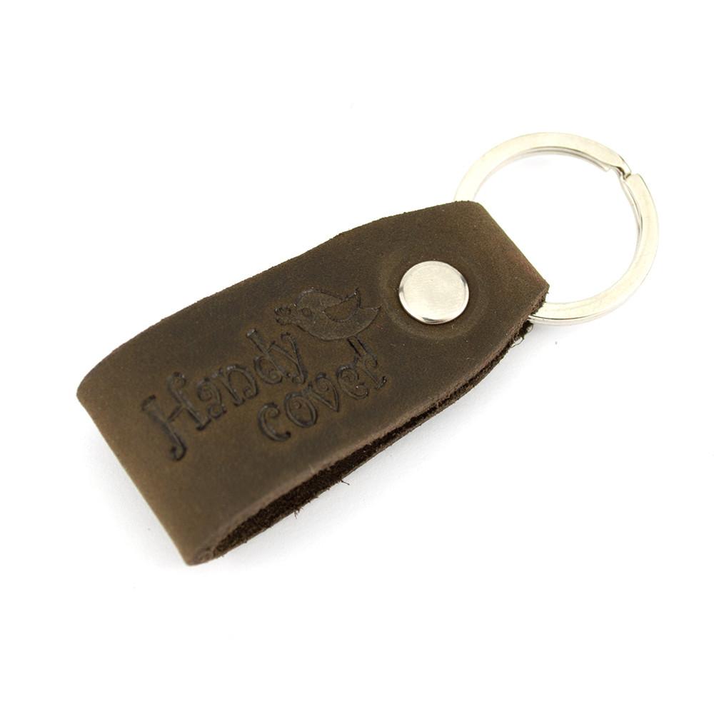 Брелок для ключей кожаный коричневый Handycover