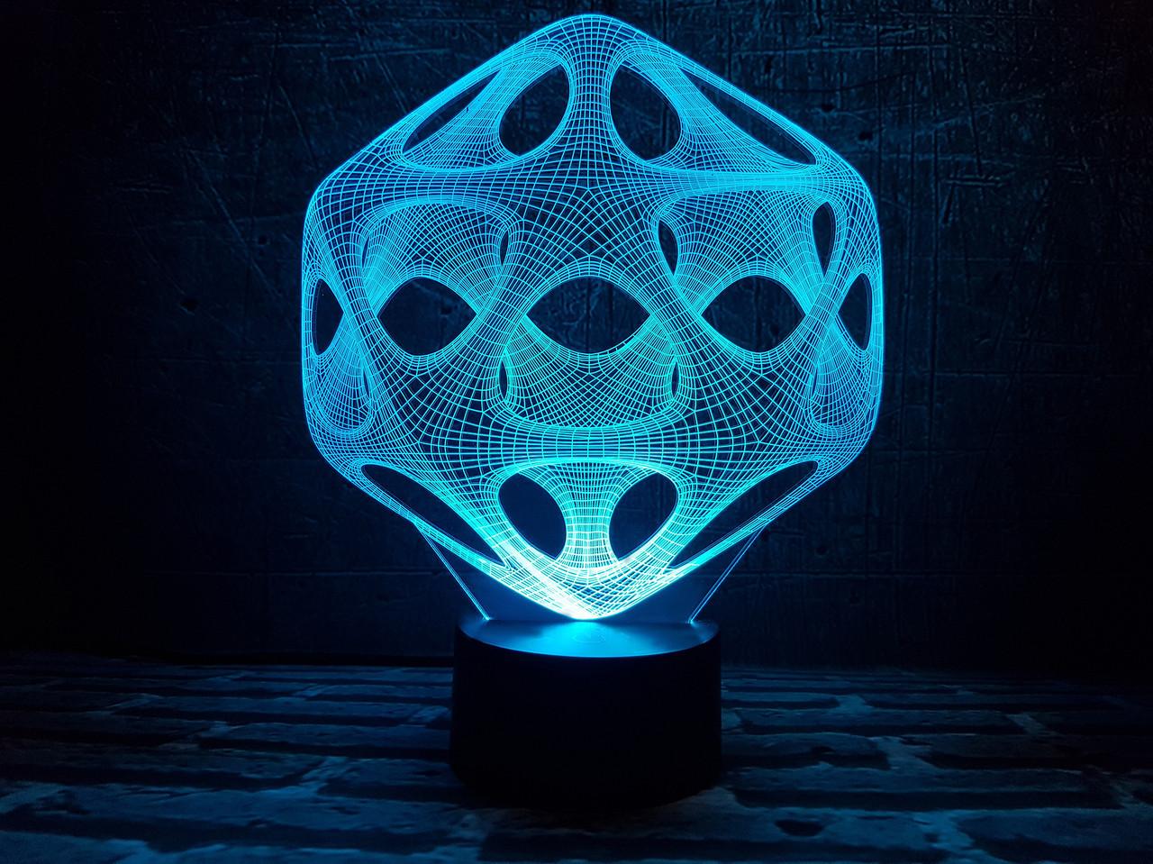 """Сменная пластина для 3D ночника """"Вирус"""" 3DTOYSLAMP"""