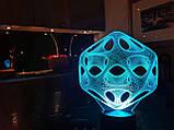 "Сменная пластина для 3D ночника ""Вирус"" 3DTOYSLAMP, фото 2"