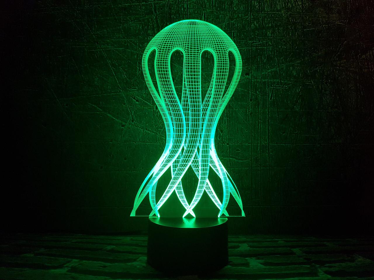 "Сменная пластина для 3D ночника ""Медуза"" 3DTOYSLAMP"