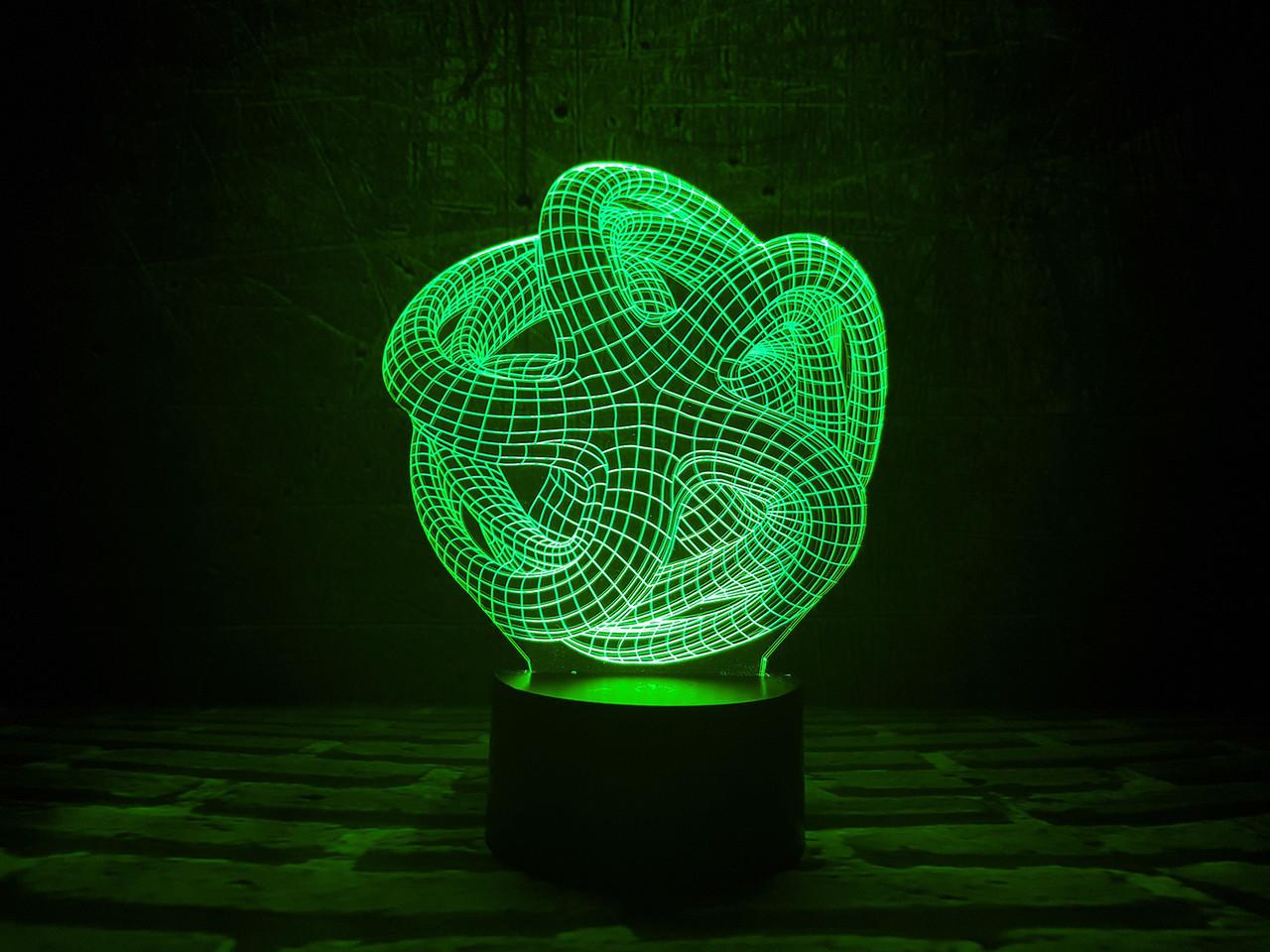 "Сменная пластина для 3D ночника ""Звезда"" 3DTOYSLAMP"