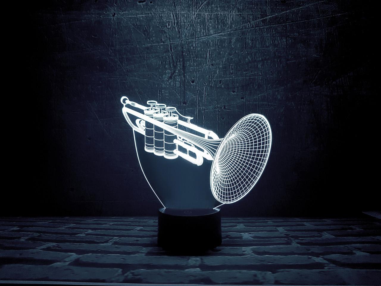 """Сменная пластина для 3D светильников """"Труба"""" 3DTOYSLAMP"""