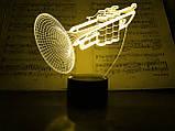 """Сменная пластина для 3D светильников """"Труба"""" 3DTOYSLAMP, фото 2"""
