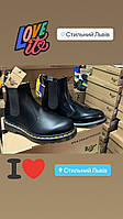 Жіночі Dr.Martens 2976 Black Smooth LEATHER CHELSEA BOOTS DM 22227001 . Martens Chelsea Стильний Львів
