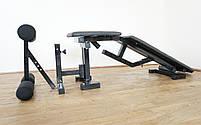 Лавка з від'ємним (кутом до 300 кг) та Стійки під штангу з страховкою  (до 250 кг), фото 7