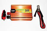 Інвертор перетворювач напруги Power Inverter UKC 500W 12V в 220V, фото 4