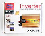Інвертор перетворювач напруги Power Inverter UKC 500W 12V в 220V, фото 5