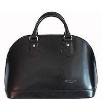 Кожаная итальянская сумка женская черная Bottega Carele натуральная кожа с короткими ручками