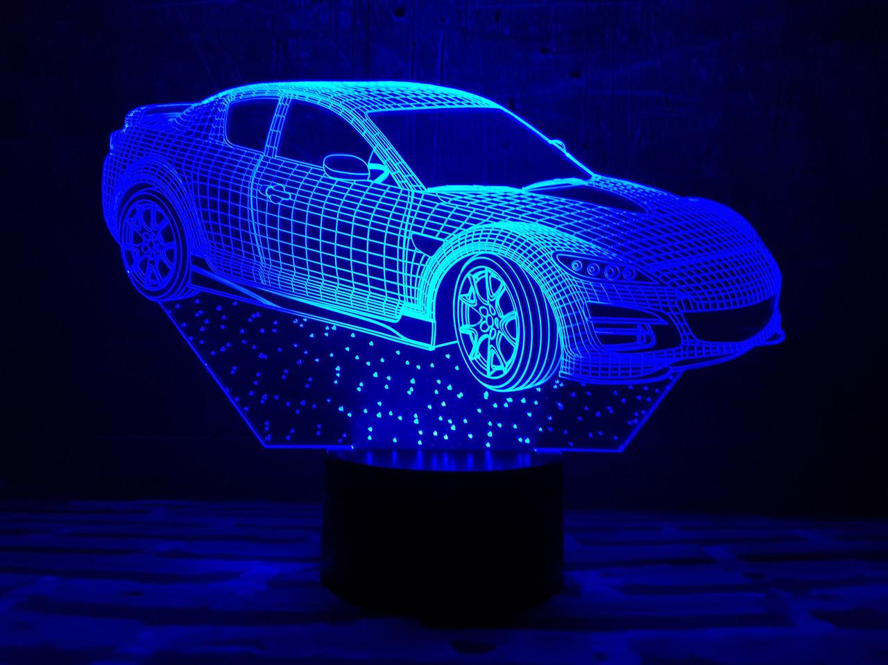 """Сменная пластина для 3D светильников """"Автомобиль 6"""" 3DTOYSLAMP"""