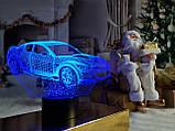 """Сменная пластина для 3D светильников """"Автомобиль 6"""" 3DTOYSLAMP, фото 2"""