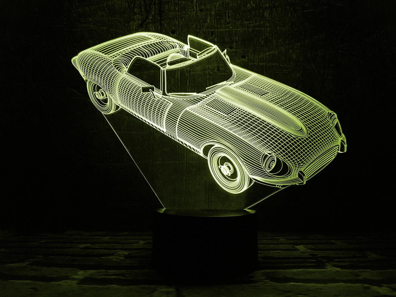 """Сменная пластина для 3D светильников """"Автомобиль 2"""" 3DTOYSLAMP"""