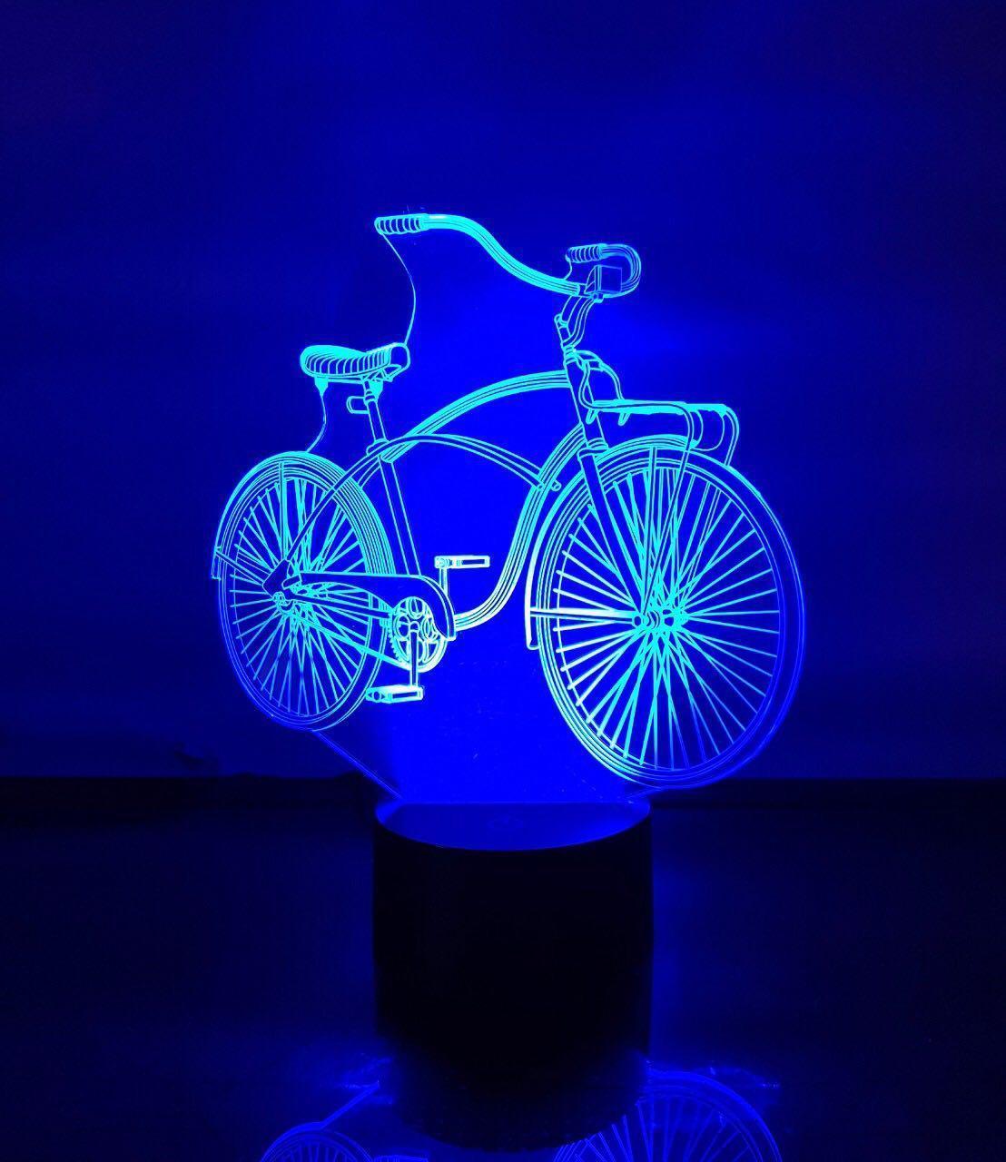 """Сменная пластина для 3D светильников """"Велосипед"""" 3DTOYSLAMP"""