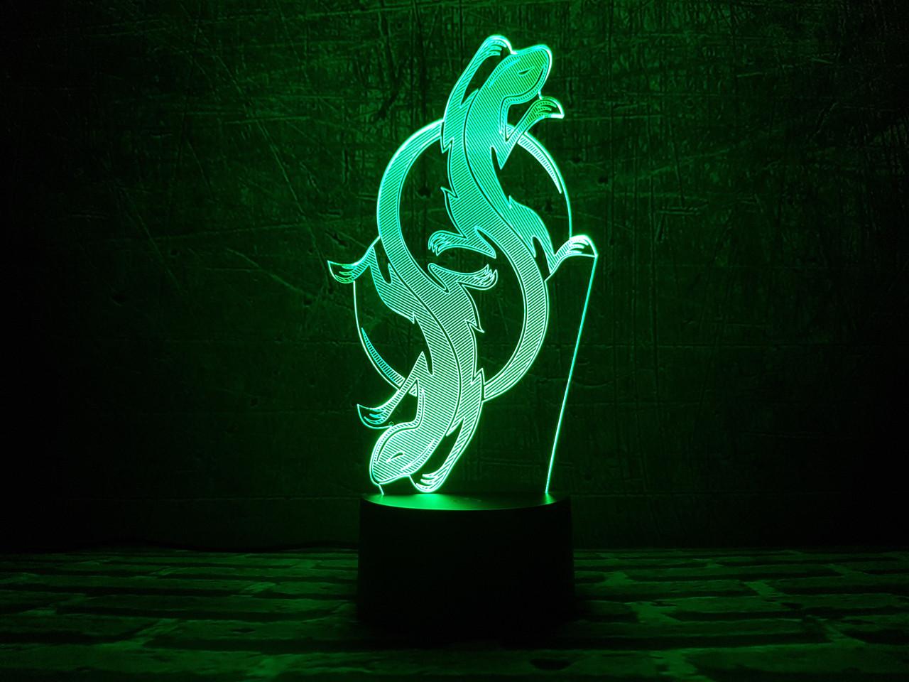 """Сменная пластина для 3D ламп """"Саламандра"""" 3DTOYSLAMP"""