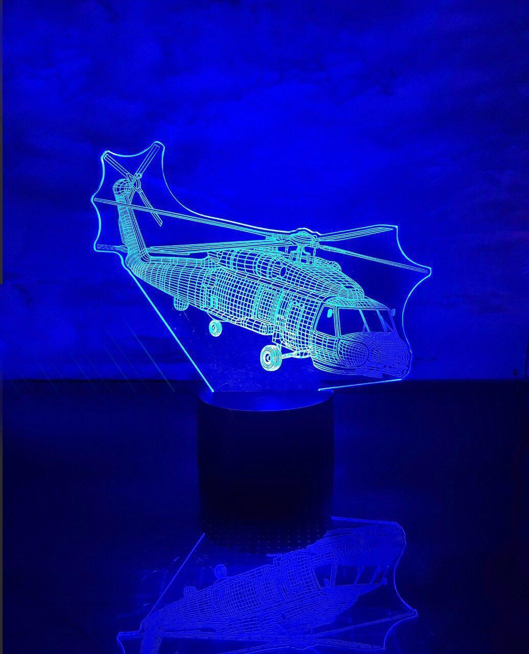 """Сменная пластина для 3D ламп """"Вертолет"""" 3DTOYSLAMP"""