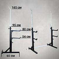 Лавка з від'ємним (кутом до 300 кг) та Стійки під штангу з страховкою (до 200 кг), фото 9