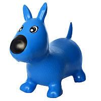 Прыгун резиновый Игрушка для детей собачки MS1592 (Синяя)