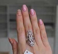 Массивное серебряное кольцо с золотом Бригантина