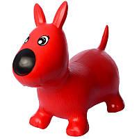 Прыгун резиновый Игрушка для детей собачки MS1592         (Красная)
