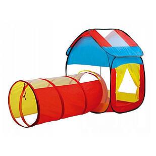 Игровая палатка домик с туннелем Разноцветный (RI0326)