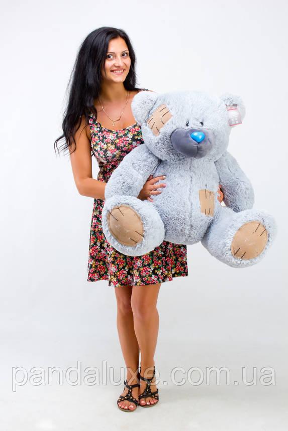 Мягкая игрушка медведь плюшевый мишка Гриша серый 100см, фото 2