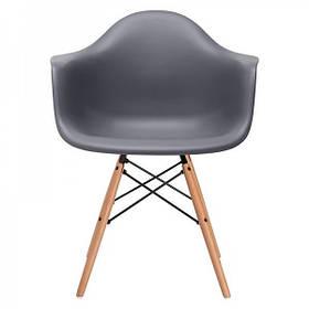 Кресло Тауэр Вуд, ножки Бук, пластик Темно-серый (СДМ мебель-ТМ)