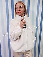 Пальто с воротником стойка  имитация меха норки (эко-норка), фото 1