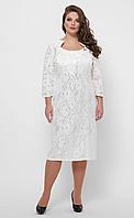 Платье VP21 белый большие размеры, фото 1