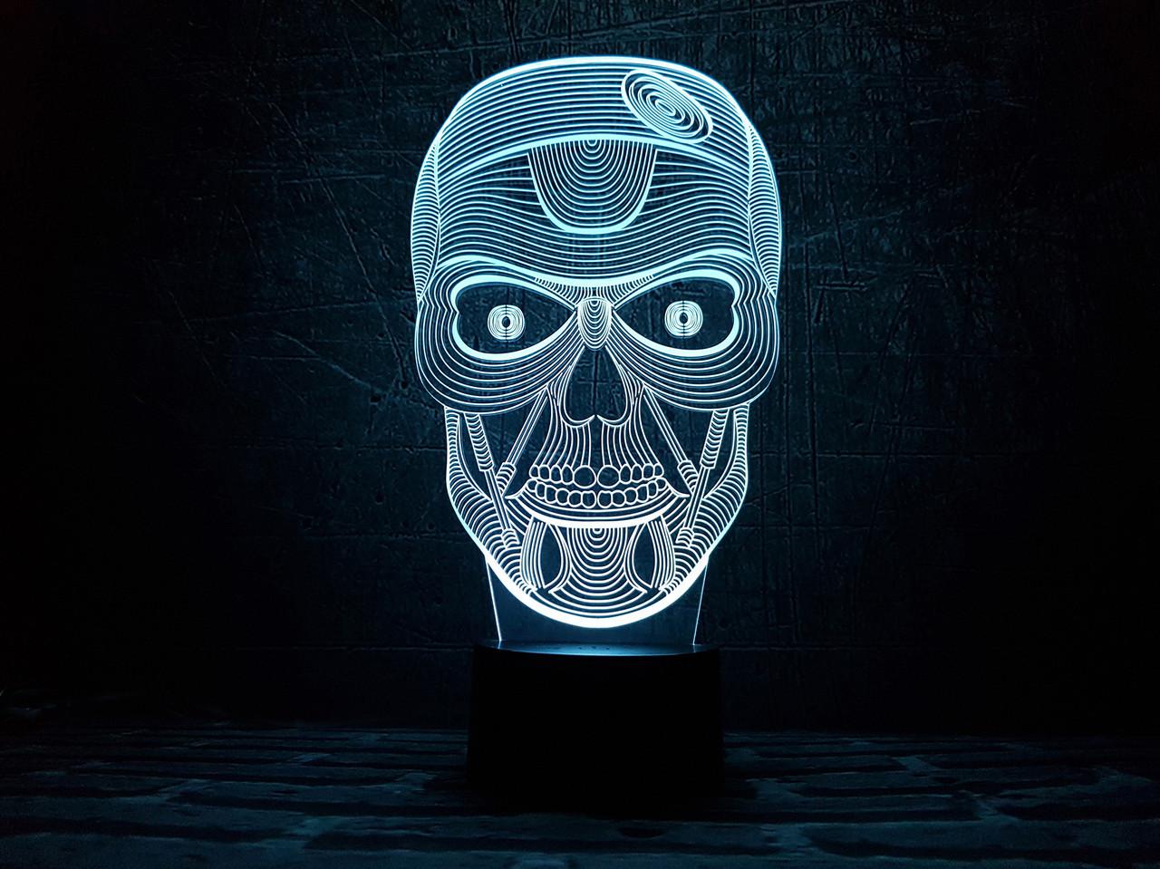 """3D светильник ночник """"Череп"""""""