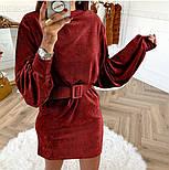 Женское вельветовое платье с поясом (в расцветках), фото 2