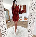 Женское вельветовое платье с поясом (в расцветках), фото 3