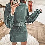 Женское вельветовое платье с поясом (в расцветках), фото 4