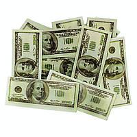 """Конфетти """"Доллары"""" 15 г, бумага на вечеринку."""