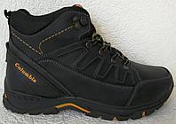 Зимние мужские кожаные ботинки Black обувь качество тепло комфорт, фото 1